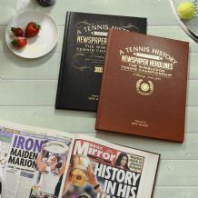Wimbledon Tennis History - Newspaper Book